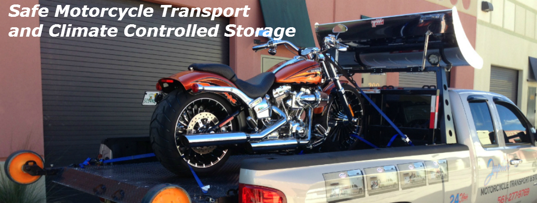 WELCOME TO JUPITER MOTORCYCLE TRANSPORT AND STORAGE!